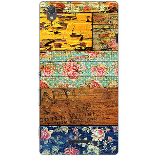 1 Crazy Designer Floral Pattern  Back Cover Case For Sony Xperia T3 C640674