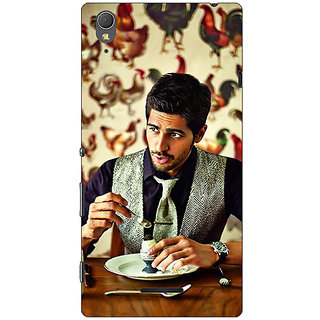 1 Crazy Designer Bollywood Superstar Siddharth Malhotra Back Cover Case For Sony Xperia T3 C640942