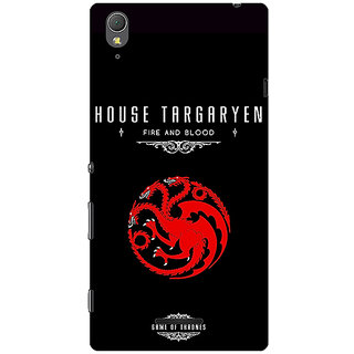 1 Crazy Designer Game Of Thrones GOT House Targaryen  Back Cover Case For Sony Xperia T3 C640144
