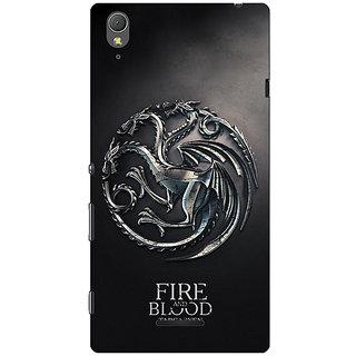 1 Crazy Designer Game Of Thrones GOT House Targaryen  Back Cover Case For Sony Xperia T3 C640145