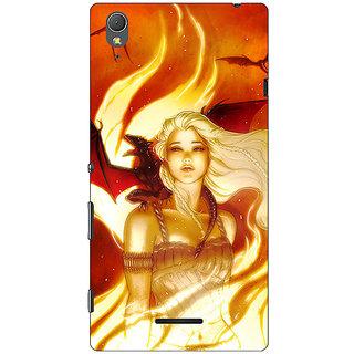 1 Crazy Designer Game Of Thrones GOT House Targaryen  Back Cover Case For Sony Xperia T3 C640146