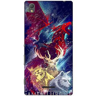 1 Crazy Designer Game Of Thrones GOT House Targaryen  Back Cover Case For Sony Xperia T3 C640148