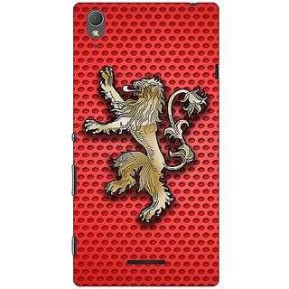 1 Crazy Designer Game Of Thrones GOT House Lannister  Back Cover Case For Sony Xperia T3 C640155