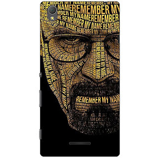 1 Crazy Designer Breaking Bad Heisenberg Back Cover Case For Sony Xperia T3 C640430