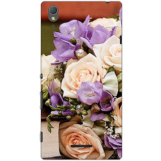 1 Crazy Designer Roses Back Cover Case For Sony Xperia T3 C640711