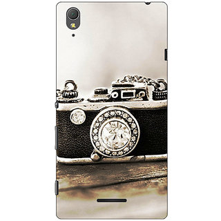 1 Crazy Designer Vintage Camera  Back Cover Case For Sony Xperia T3 C640712