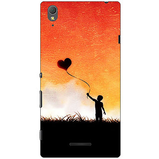 1 Crazy Designer Love In The Air Back Cover Case For Sony Xperia T3 C640720
