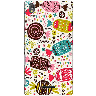 1 Crazy Designer Candy Love Back Cover Case For Sony Xperia T3 C640784