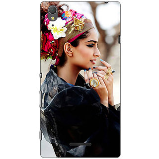 1 Crazy Designer Bollywood Superstar Sonam Kapoor Back Cover Case For Sony Xperia T3 C640984