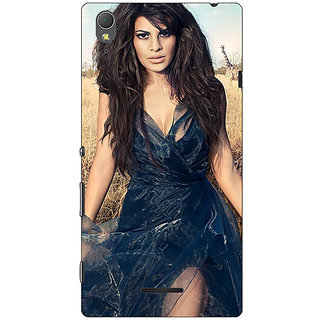 1 Crazy Designer Bollywood Superstar Jacqueline Fernandez Back Cover Case For Sony Xperia T3 C640992