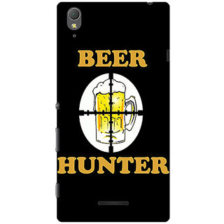 1 Crazy Designer Beer Quote Back Cover Case For Sony Xperia T3 C641236