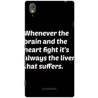 1 Crazy Designer Beer Quote Back Cover Case For Sony Xperia T3 C641239