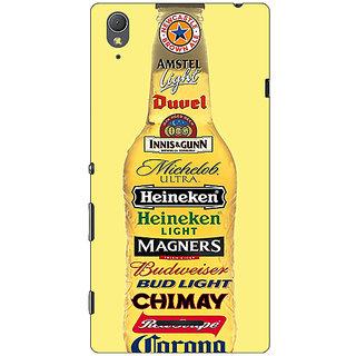 1 Crazy Designer Beer Bottle Back Cover Case For Sony Xperia T3 C641248