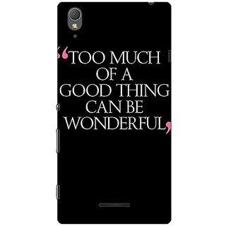 1 Crazy Designer Quote Back Cover Case For Sony Xperia T3 C641292