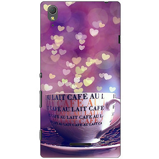1 Crazy Designer Coffee Back Cover Case For Sony Xperia T3 C641295