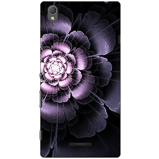 1 Crazy Designer Abstract Flower Pattern Back Cover Case For Sony Xperia T3 C641518