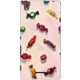 1 Crazy Designer Toffee Pattern Back Cover Case For Sony Xperia T3 C640247