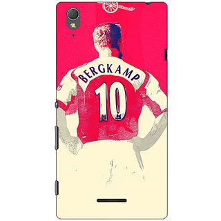 1 Crazy Designer Arsenal Dennis Bergkamp Back Cover Case For Sony Xperia T3 C640513