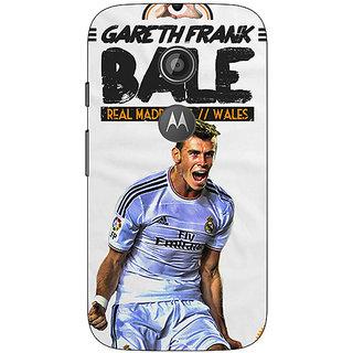 1 Crazy Designer Real Madrid Bale Back Cover Case For Moto E2 C650585