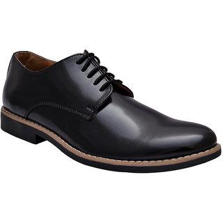 Hirels Black Derby Lace Up Shoes
