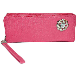 SkyWays Pink Stud Hand Wallet