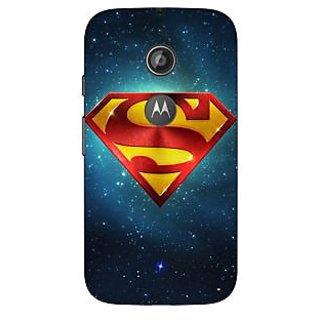 1 Crazy Designer Superheroes Superman Back Cover Case For Moto E2 C650383