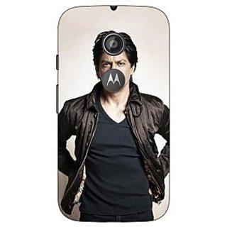 1 Crazy Designer Bollywood Superstar Shahrukh Khan Back Cover Case For Moto E2 C650935