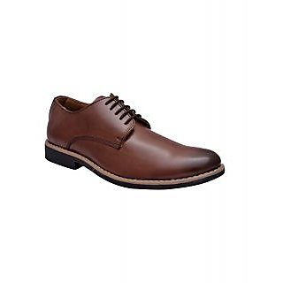Hirels Brown Derby Lace Up Shoes