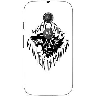 1 Crazy Designer Game Of Thrones GOT House Stark  Back Cover Case For Moto E2 C650127