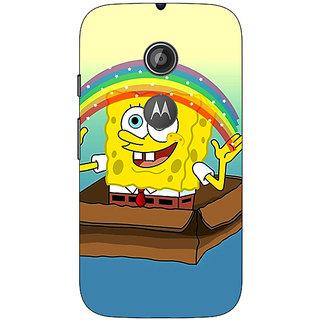 1 Crazy Designer Spongebob Back Cover Case For Moto E2 C650469