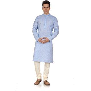Trusted snap light sky Blue colored kurta churidar for mens