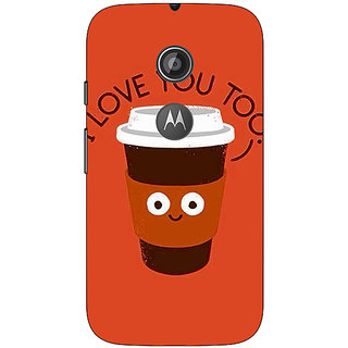 1 Crazy Designer Coffee Love Back Cover Case For Moto E2 C651433