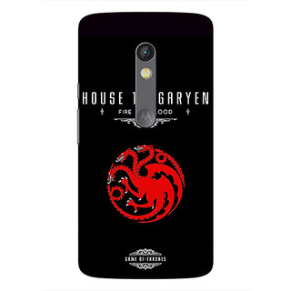 1 Crazy Designer Game Of Thrones GOT House Targaryen  Back Cover Case For Moto X Play C660144