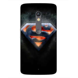 1 Crazy Designer Superheroes Superman Back Cover Case For Moto X Play C660386