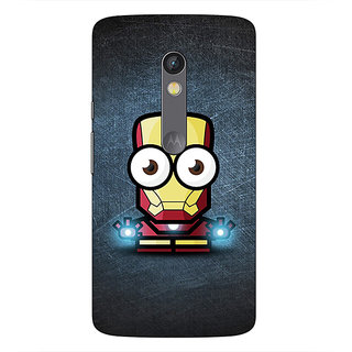 1 Crazy Designer Big Eyed Superheroes Iron Man Back Cover Case For Moto X Play C660396