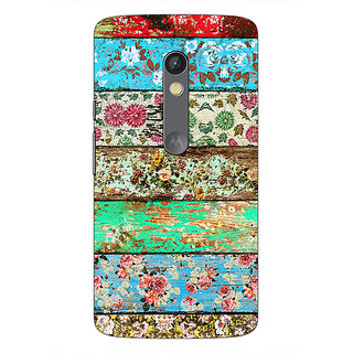 1 Crazy Designer Floral Pattern  Back Cover Case For Moto X Play C660671