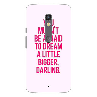 1 Crazy Designer Quotes Back Cover Case For Moto X Play C661197