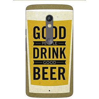 1 Crazy Designer Beer Quote Back Cover Case For Moto X Play C661220