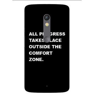 1 Crazy Designer Quote Back Cover Case For Moto X Play C661475