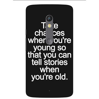 1 Crazy Designer Quote Back Cover Case For Moto X Play C661476