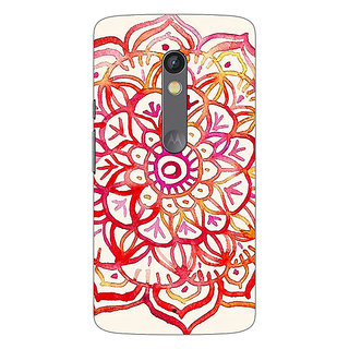 1 Crazy Designer Flower Floral Pattern Back Cover Case For Moto X Play C660204