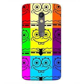 1 Crazy Designer Spongebob Back Cover Case For Moto X Play C660462