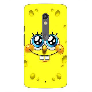 1 Crazy Designer Spongebob Back Cover Case For Moto X Play C660464