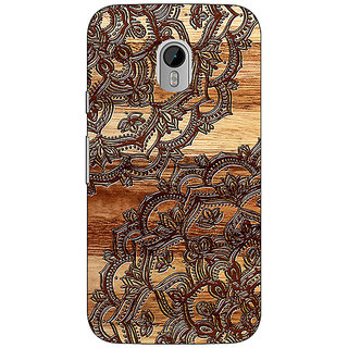 1 Crazy Designer Black Brown Doodle Pattern Back Cover Case For Moto G3 C670213