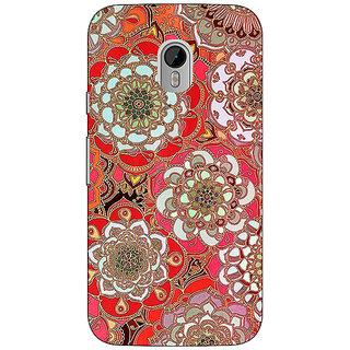 1 Crazy Designer Orange Flowers Pattern Back Cover Case For Moto G3 C670258