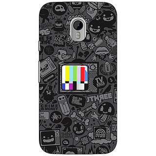 1 Crazy Designer Colour TV Back Cover Case For Moto G3 C670835