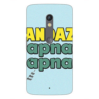 1 Crazy Designer Bollywood Superstar Andaz Apna Apna Back Cover Case For Moto X Play C661110