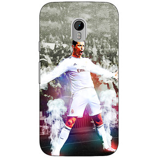 1 Crazy Designer Cristiano Ronaldo Real Madrid Back Cover Case For Moto G3 C670305