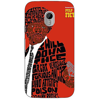 1 Crazy Designer Pulp Fiction Back Cover Case For Moto G3 C670354