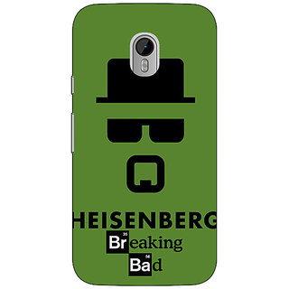1 Crazy Designer Breaking Bad Heisenberg Back Cover Case For Moto G3 C670414